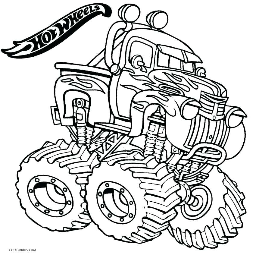 850x846 Hot Wheels Coloring Hot Wheels Monster Truck Coloring Pages Hot