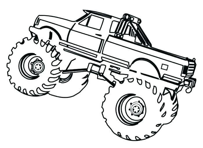 700x510 Free Printable Monster Truck Coloring Pages Monster Truck Color