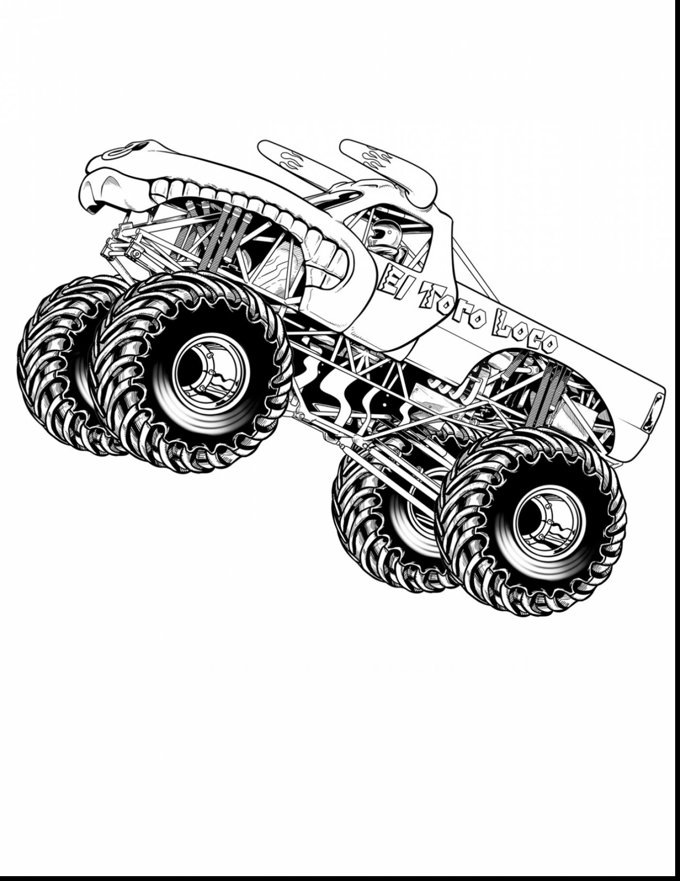 1402x1815 Grave Digger Monster Truck Coloring Pages Printable