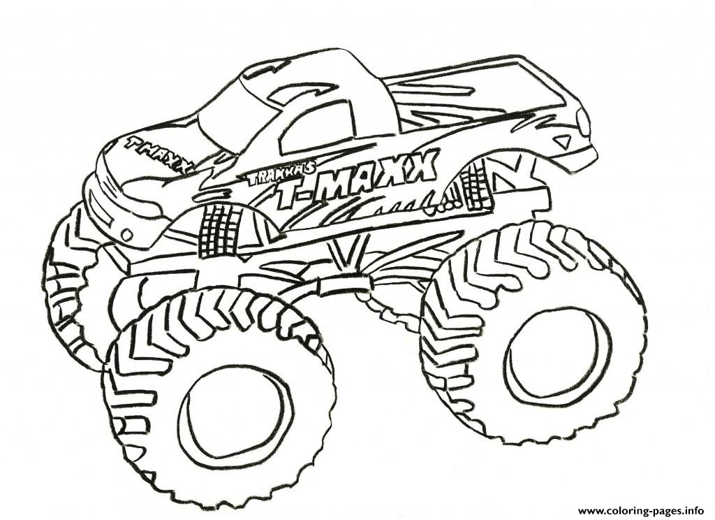 1024x744 Grave Digger Monster Truck Coloring Pages Printable