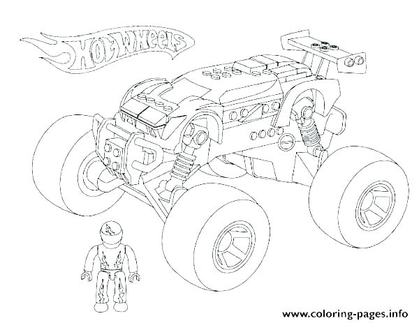 600x463 Monster Truck Coloring Page Coloring Truck Coloring Pages