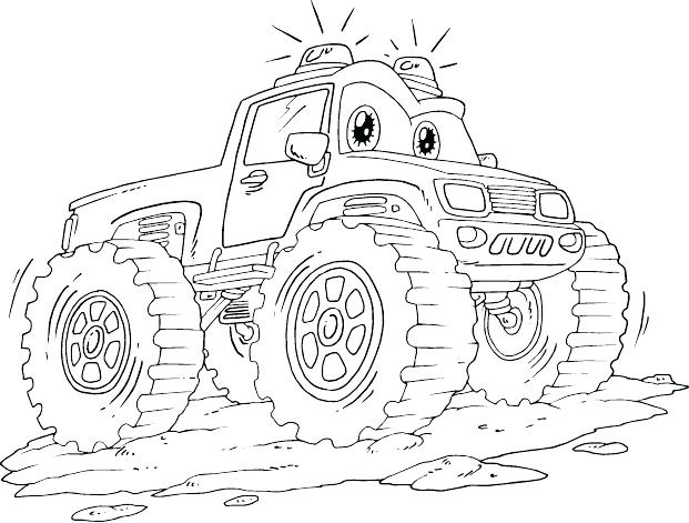 621x471 Monster Truck Coloring Page Monster Truck Pictures To Color