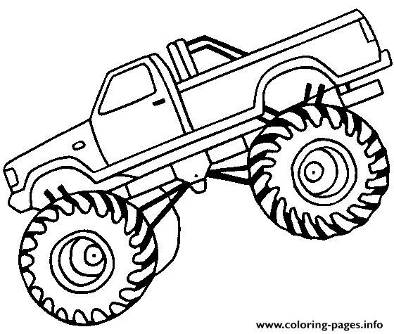 560x475 Monster Truck Coloring Pages Printable Easy Monster Truck Big