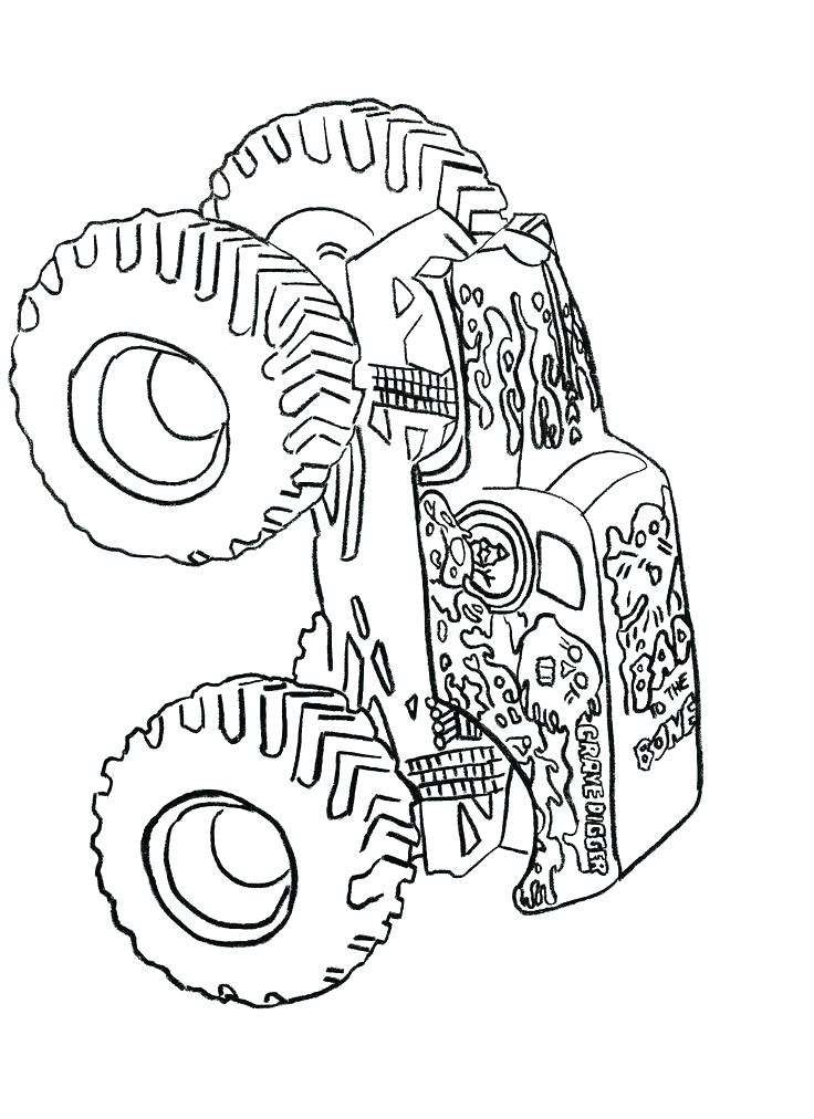 736x1012 Monster Trucks Coloring Pages Also Monster Truck Printable