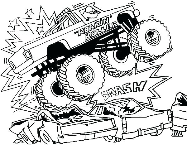 600x465 Bigfoot Coloring Page Monster Truck Coloring Page Free Printable
