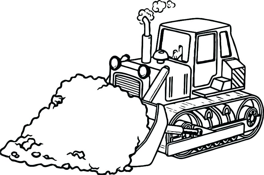 863x572 Bulldozer Coloring Pages Printable Monster Truck Also Sand Page
