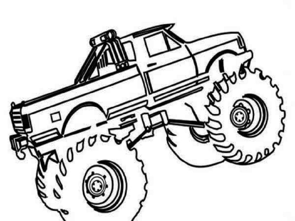 1024x768 Coloring Pictures Monster Truck Print Color Pages Printable