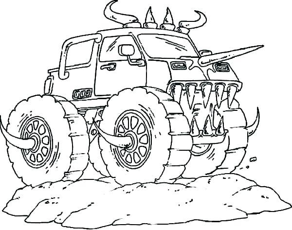 bilder zum ausmalen monster truck  malvorlagen