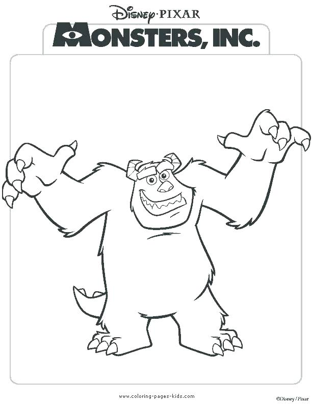 612x792 Monster Inc Coloring Pages Top Rated Monsters Inc Coloring Pages