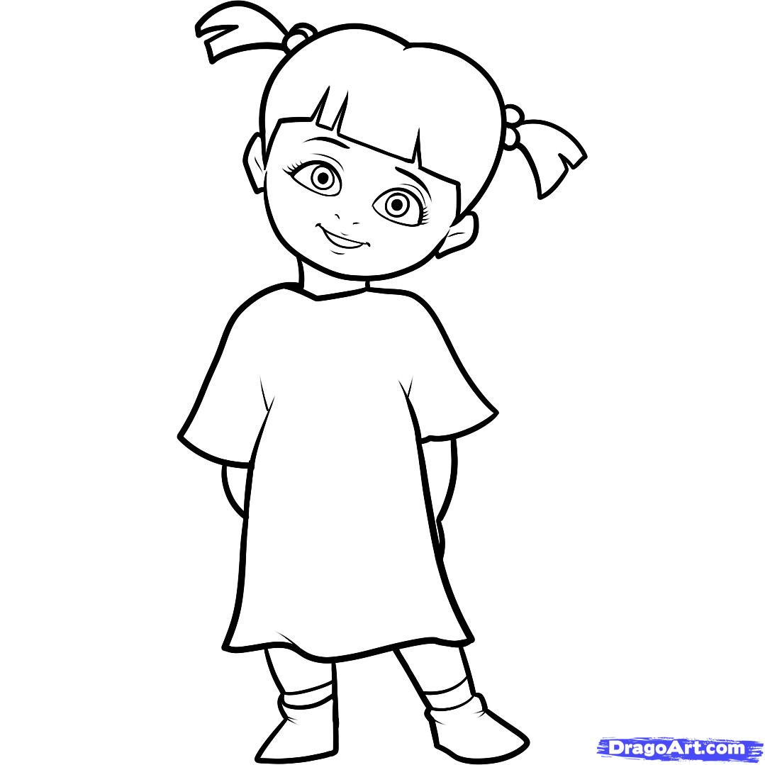 1079x1079 Monsters Inc Boo Coloring Pages