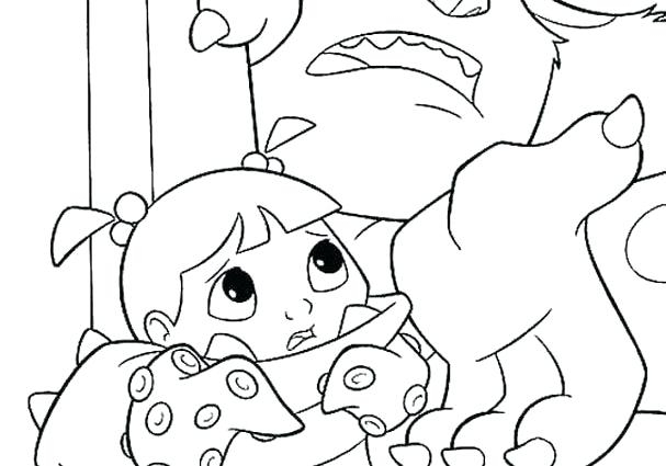 607x425 Monsters Inc Boo Coloring Pages Finds Download