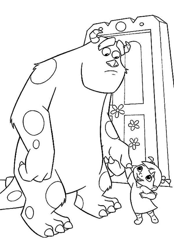 600x839 Monsters Inc Coloring Pages For Kids