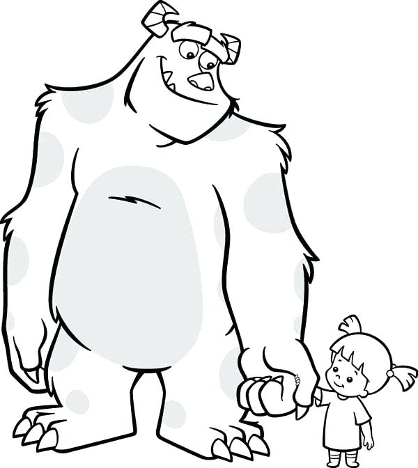 600x672 Sulley Coloring Pages Coloring Pages Monsters Inc Boo Coloring
