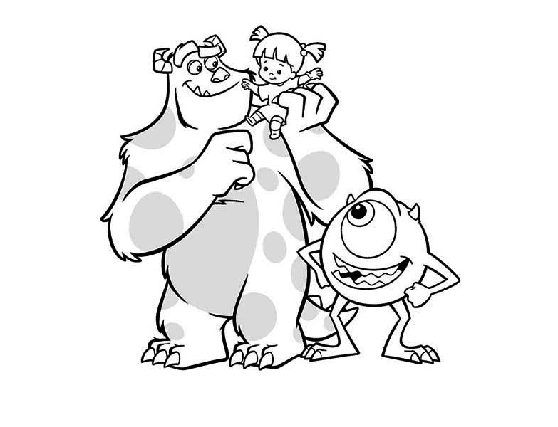 783x600 Boo And Sulley Coloring Pages