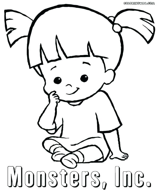 618x748 Boo Monsters Inc Coloring Pages Beanie Boo Coloring Pages Beanie