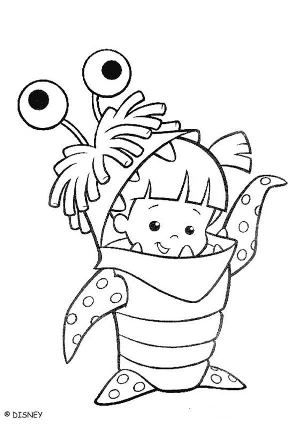 607x850 Boo Monster Coloring Pages