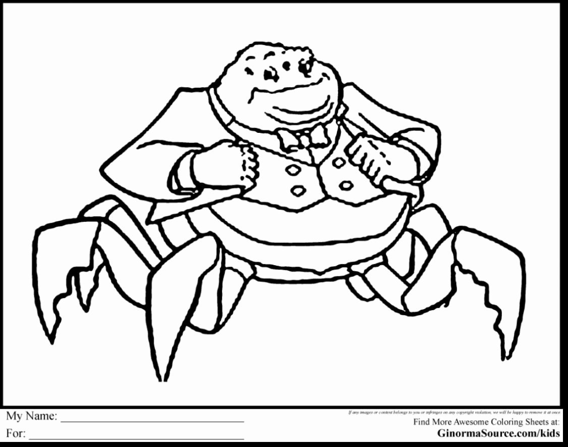 Monsters Inc Characters Coloring Pages