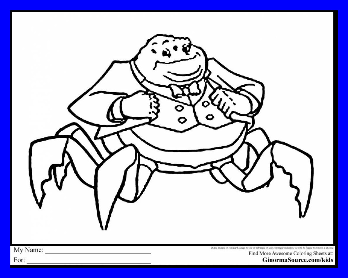 1196x955 Appealing Extraordinary Inc Characters Coloring Pages With Monster