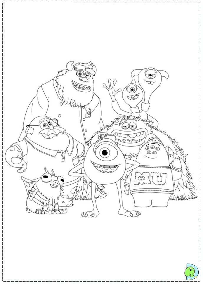 691x960 Monsters University Characters Coloring Pages
