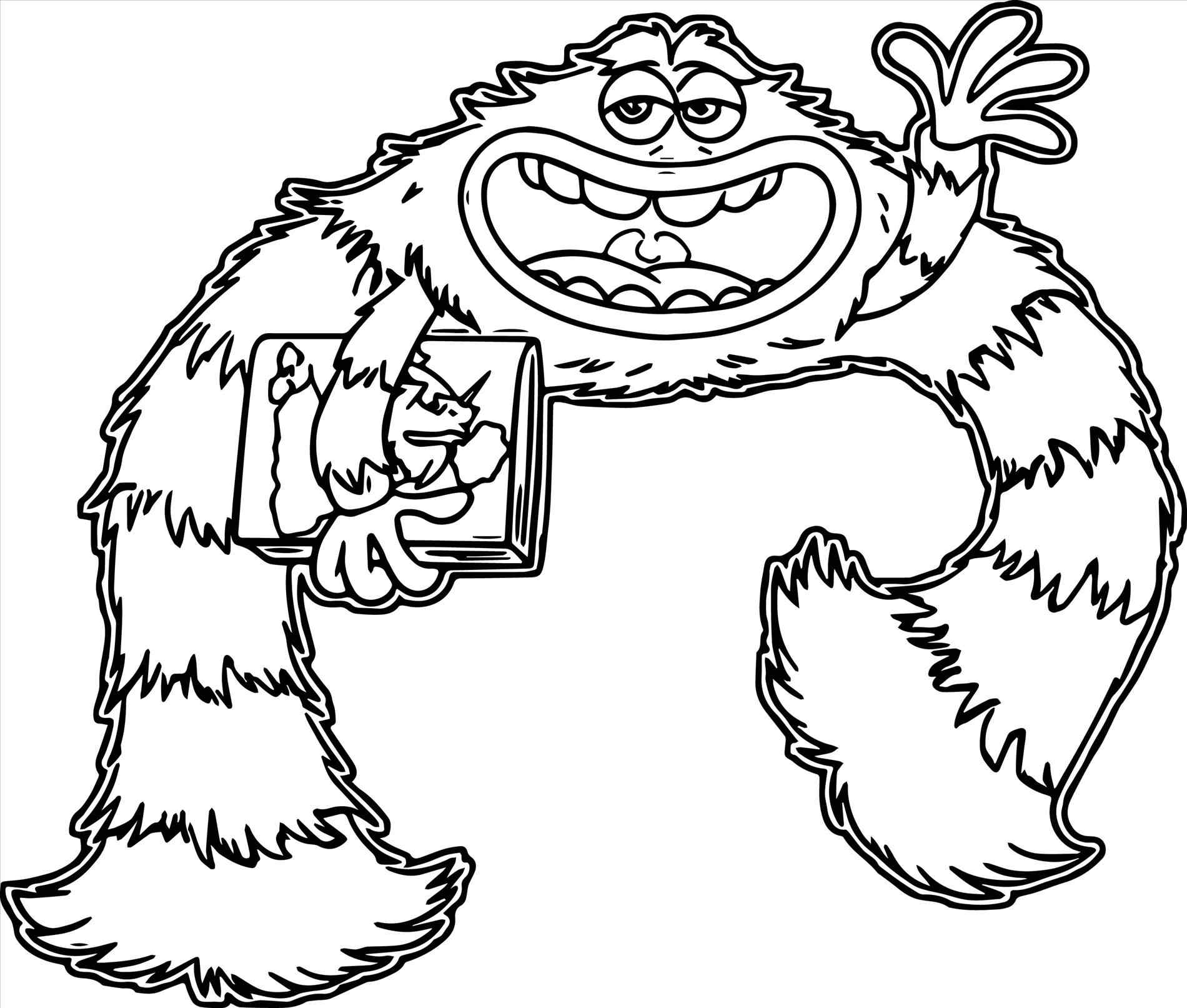 1900x1613 Monsters University Characters Coloring Pages Online Coloring