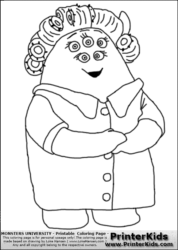 580x812 Monsters University Coloring Pages