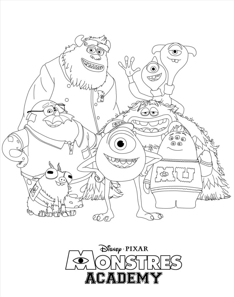 807x1024 Beautiful Sully Monsters Inc Coloring Page Freecoloringpages Pages