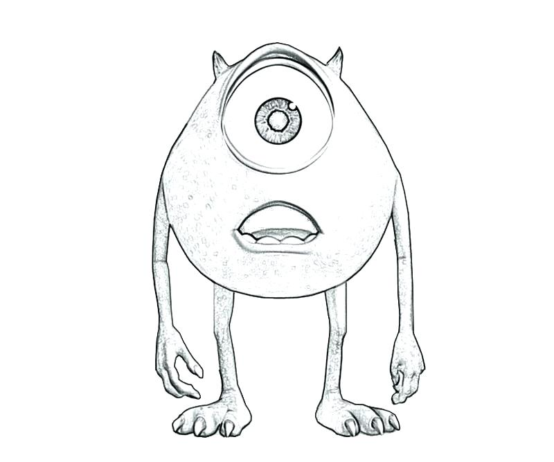 800x667 Mike Wazowski Coloring Pages Monsters Inc Coloring Pages Coloring