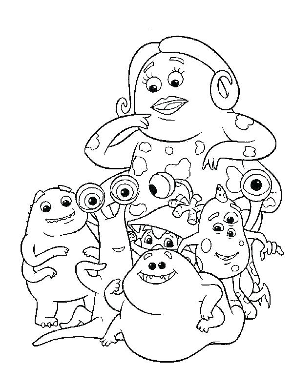 600x752 Monster Inc Coloring Pages Monsters Coloring Pages Coloring Pages
