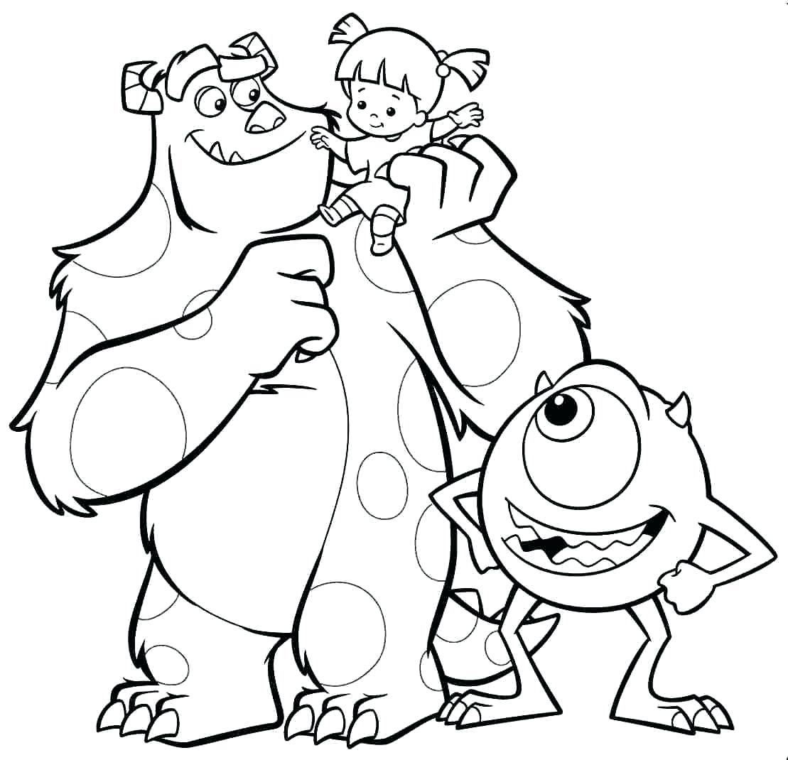 1109x1070 Monsters Inc Coloring Pages New Coloring Sheets