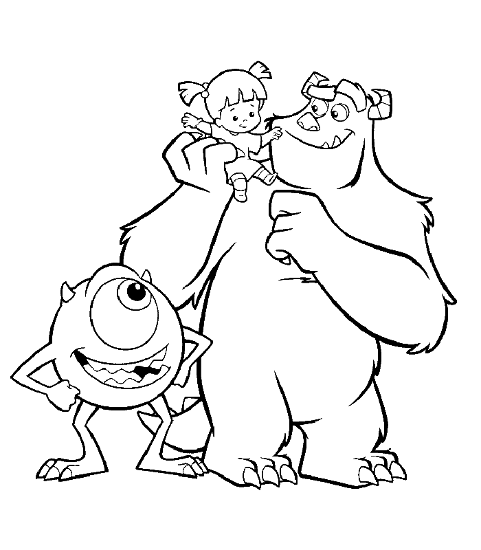 700x800 Disney Coloring Page Monsters Inc