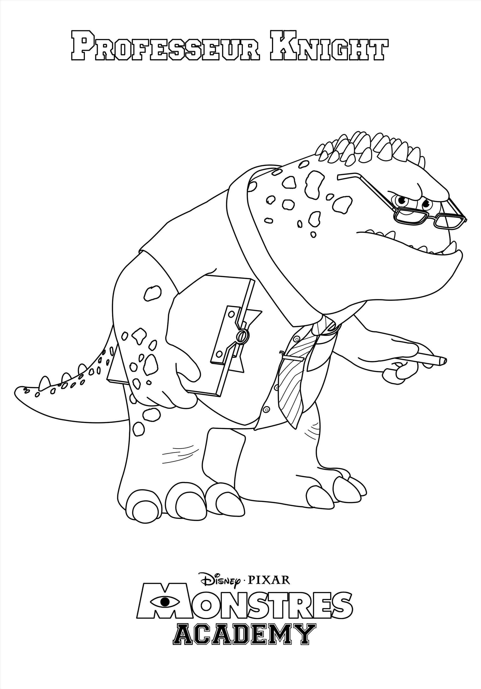 Monsters University Characters Coloring Pages at GetDrawings.com ...