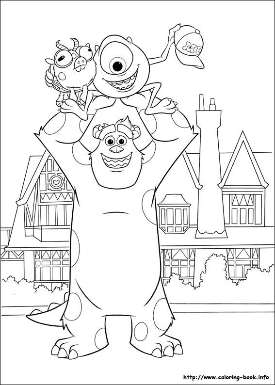 567x794 Monsters University Coloring Page