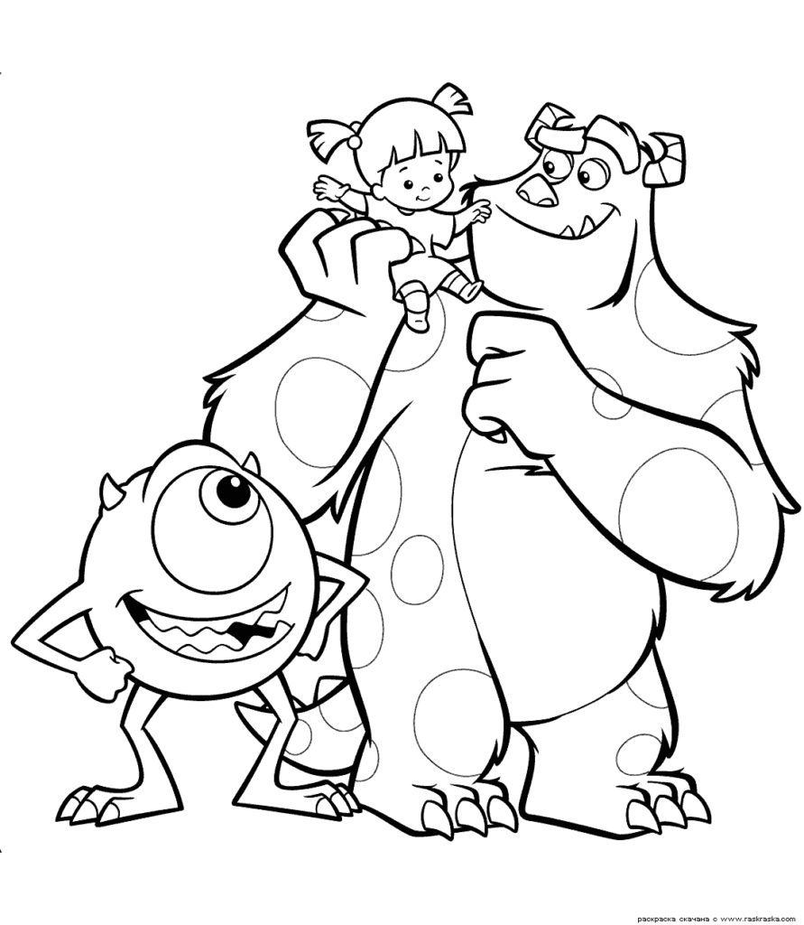 891x1024 Monsters University Coloring Pages