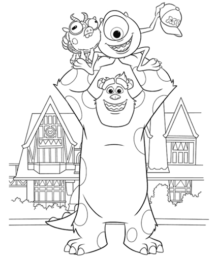 425x510 Monsters University Coloring Pages Para Colorear De