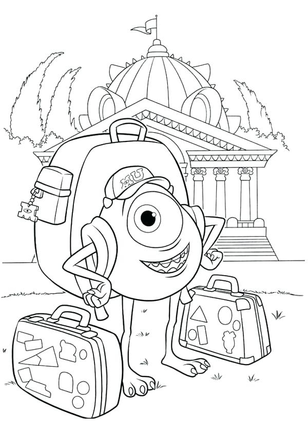 600x840 Coloring Monsters University Coloring Pages Monsters Sea Monster