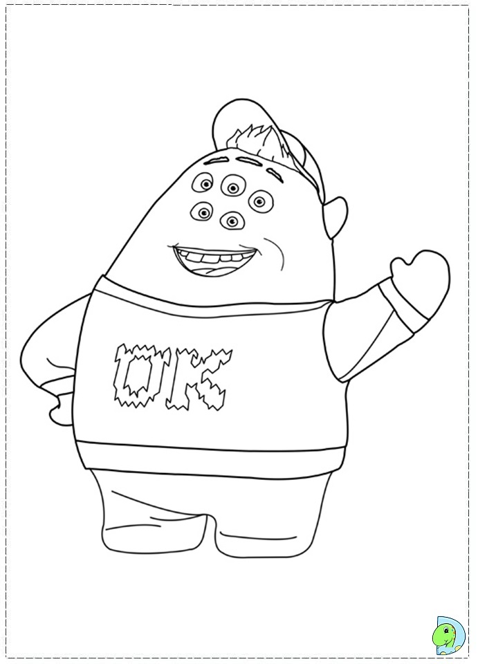 691x960 Monsters University Mike Coloring Pages