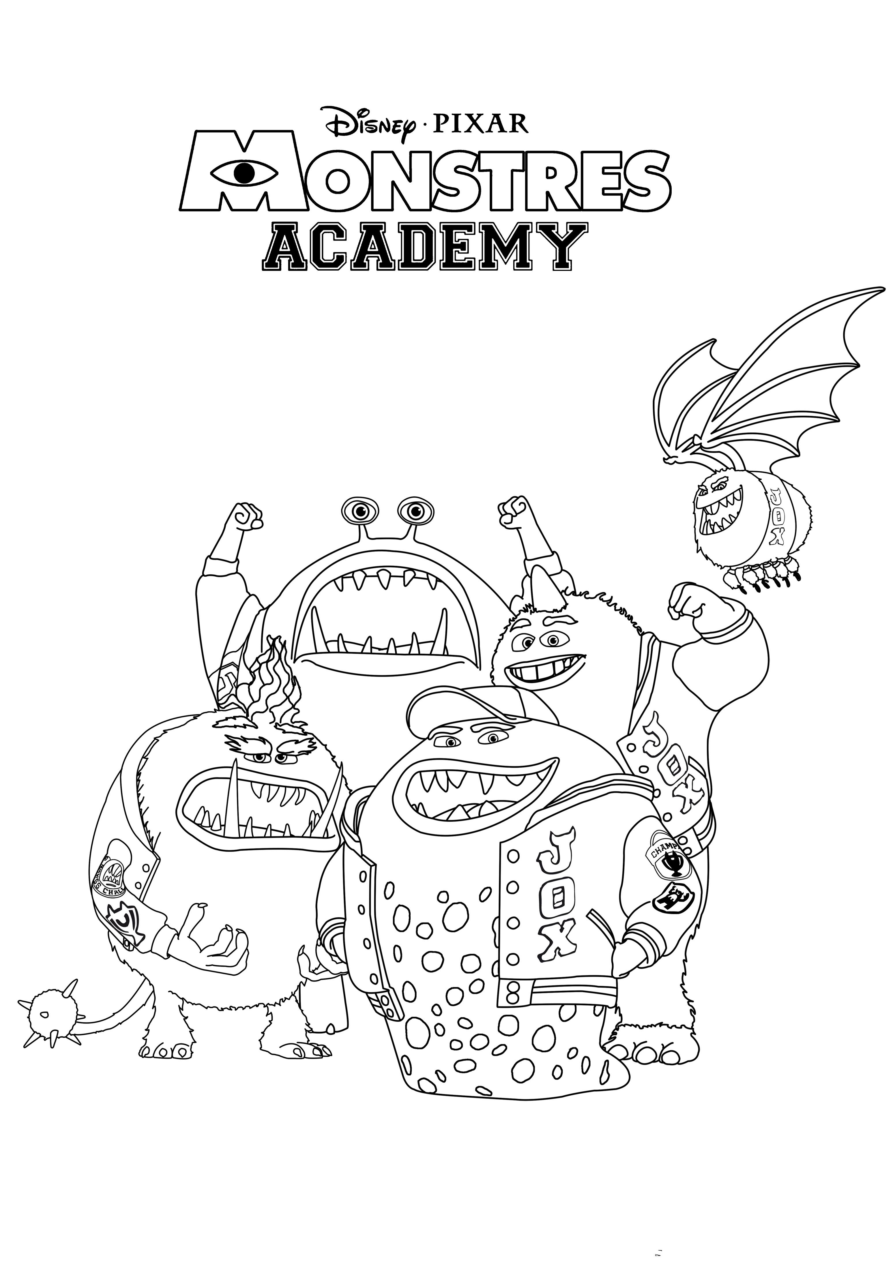 3102x4444 Remarkables Inc Characters Coloring Pages With Monster University