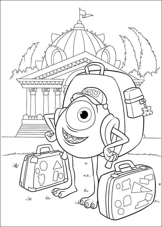 567x794 Coloring Pages Of Monsters University Crafts