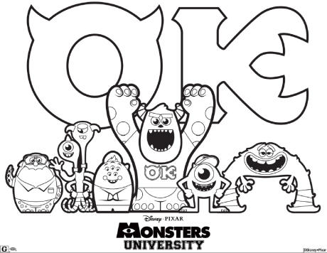 460x356 Monsters University Colouring