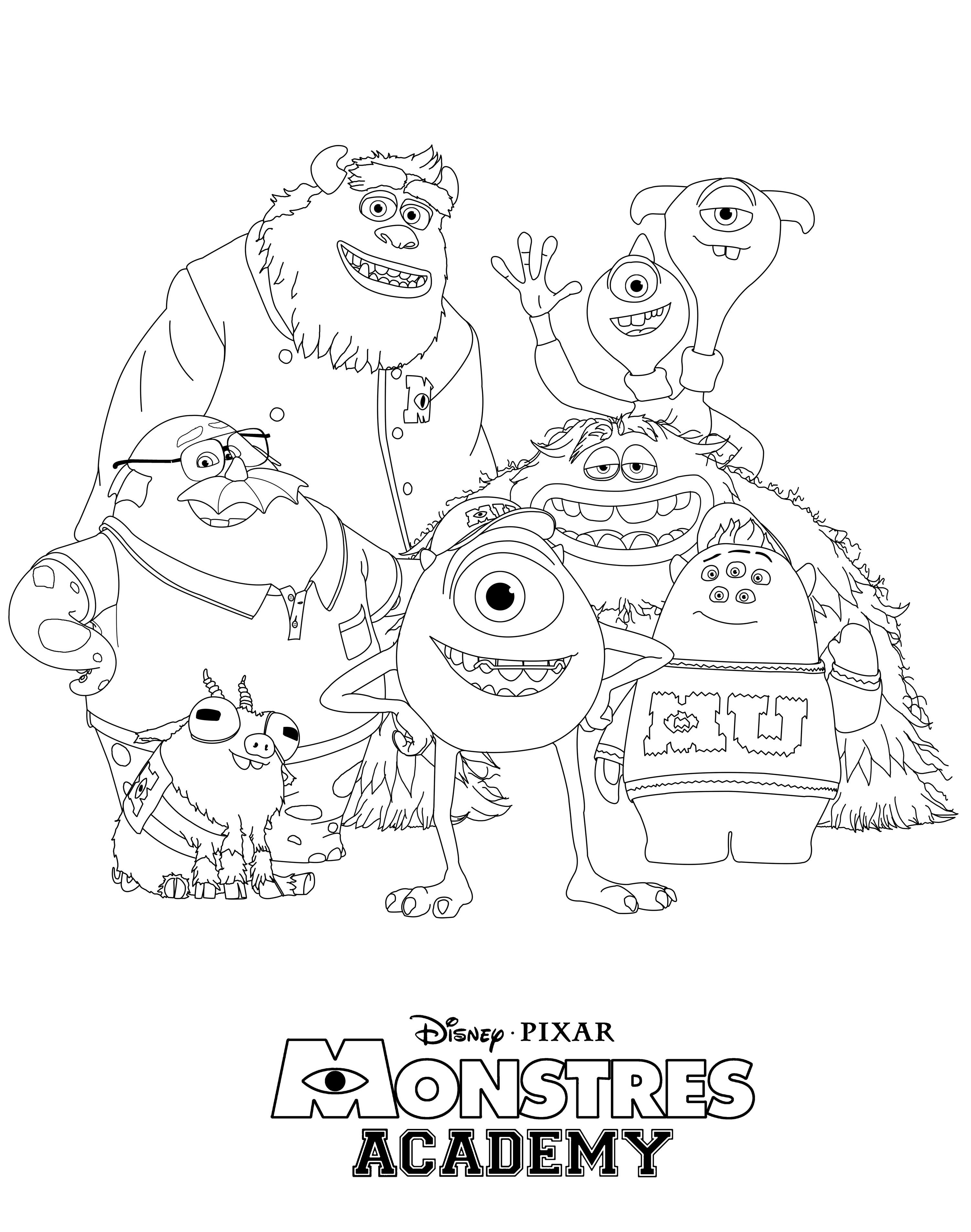 3004x3812 Coloring Pages Of U New Monsters University Auto
