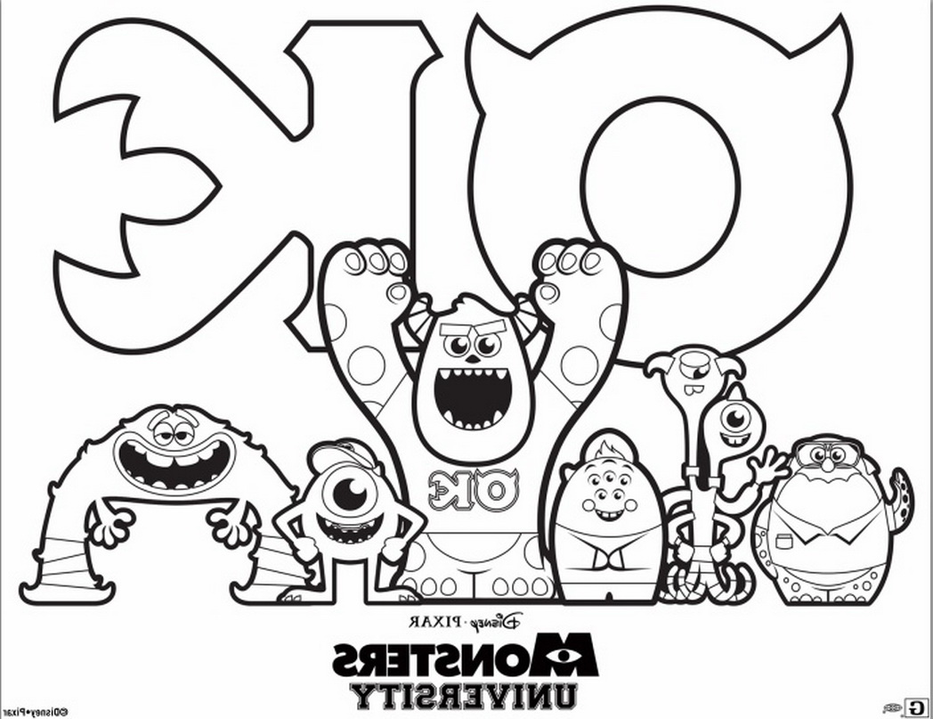 1048x807 Liberal Free Monsters University Coloring Page