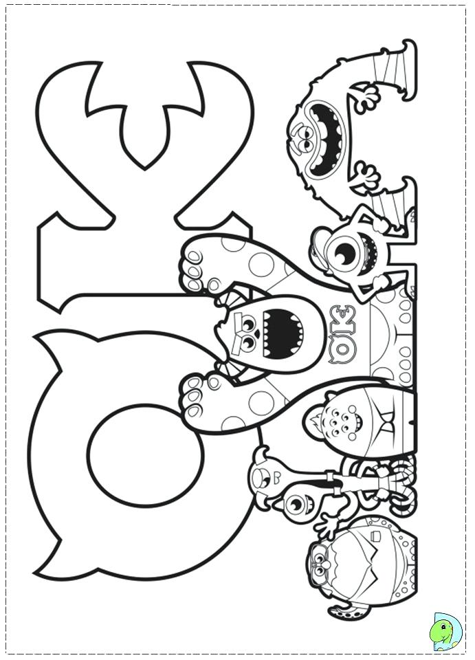 691x960 Monster University Coloring Pages Monsters University Coloring