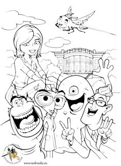 236x324 Monsters Vs Aliens Coloring Pages On Coloring Kids