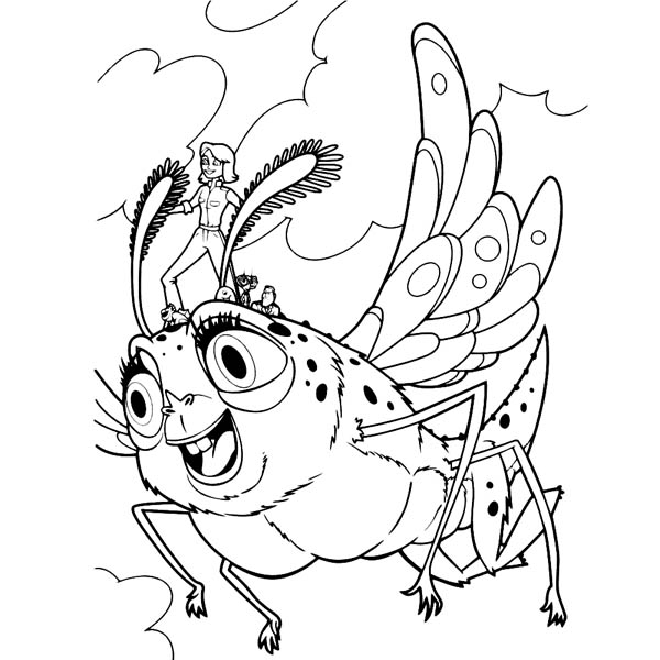 600x600 Susan Ride Insectosaurus In Monster Vs Aliens Coloring Page