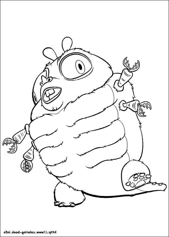 567x794 The Best Monsters Vs Aliens Coloring Pages