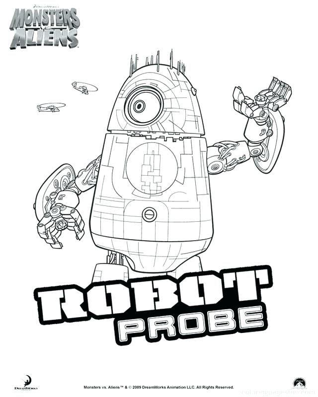 640x800 Monsters Vs Aliens Coloring Pages