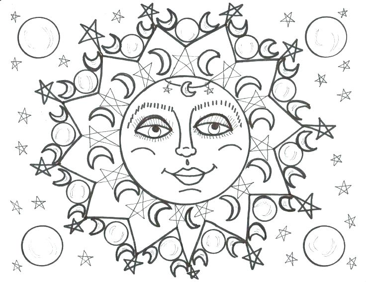 736x567 Free Printable Moon And Stars Coloring Pages Elegant Or Sun