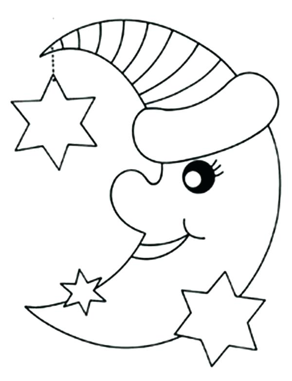 600x782 Moon And Stars Coloring Pages