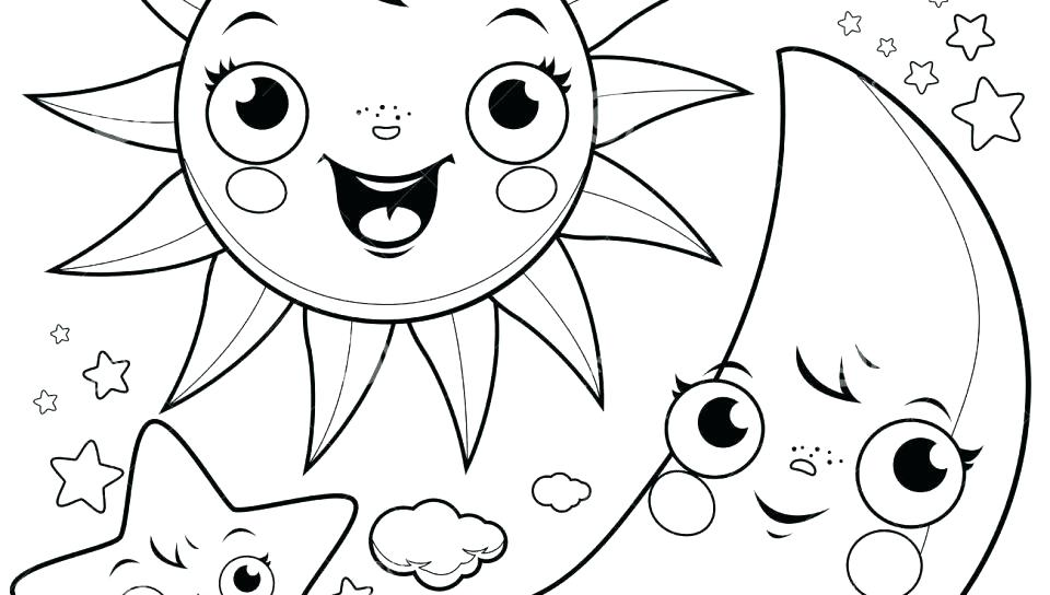 960x544 Moon And Stars Colouring Pages Sun Coloring Page Free Printable