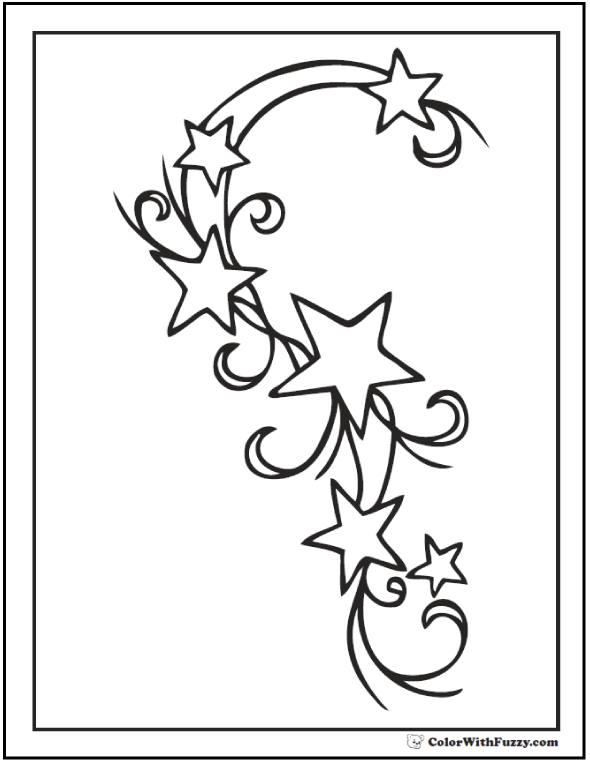 590x762 Star Coloring Pages Customize And Print Pdf